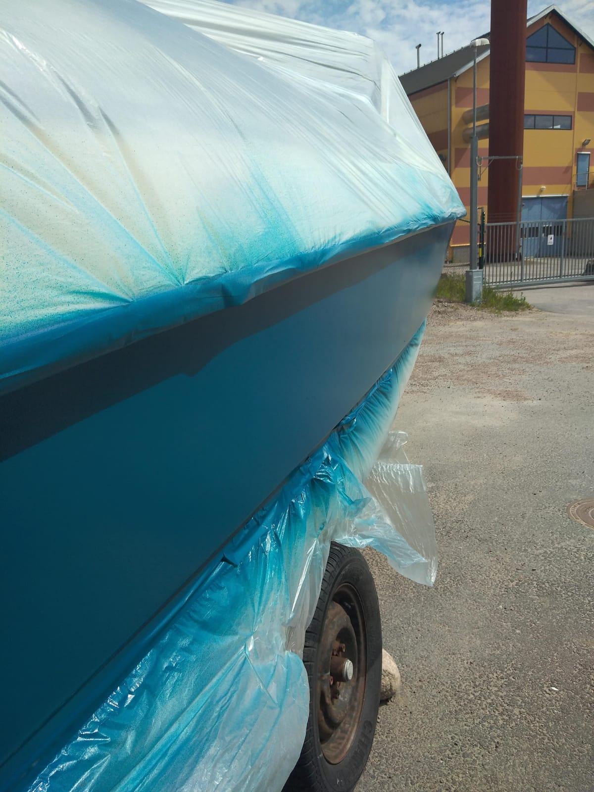 målning av båt